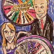 Wheel Of Fortune Pat Sajak And Vanna White Art Print