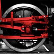 Wheel Of Red Steel Art Print