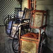 Wheelchairs Of Yesteryear By Kaye Menner Art Print