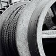 Wheels And Pulleys  Art Print