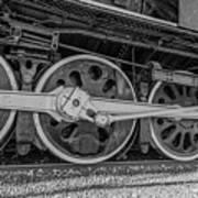Wheels On A Locomotive Art Print