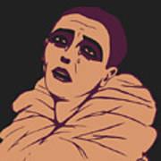 Weeping Pierrot Art Print
