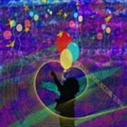 When Balloons Become Stars Art Print