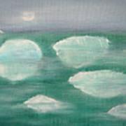 When Glaciers Melt Art Print