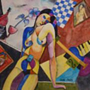 When Modigliani Met Picasso Art Print