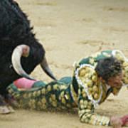 When The Bull Gores The Matador II Art Print