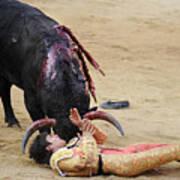 When The Bull Gores The Matador Vii Art Print