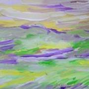 When The Sky Is Yellow The Purple Emerges Art Print