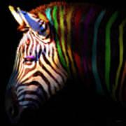 When Zebras Dream 7d8908 Square Art Print