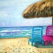 Peaceful Day At The Beach Art Print