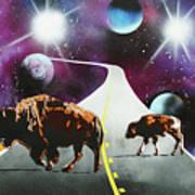 Where The Space Buffalo Roam II Art Print