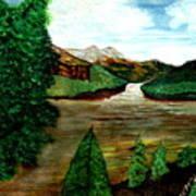 Where Water Meets Art Print