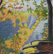 Whetstone Gulf State Park Ny Gorge Art Print