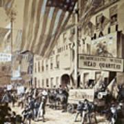 Whig Party Parade, 1840 Art Print