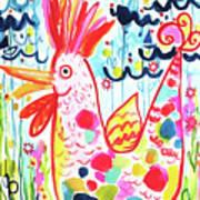 Whimsical Chicken Art Print