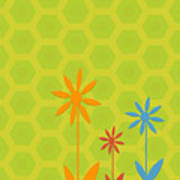 Whimsical Flowers Art Print