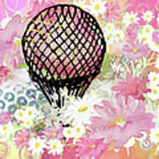 Whimsical Musing High In The Air Pink Art Print