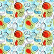 Whimsical Seamless Pattern Art Print