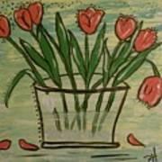 Whimsical Tulips Art Print