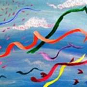 Whimsy Flying East Art Print