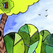 Whimsy Trees Art Print