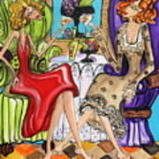 Whinning Women Iv Art Print