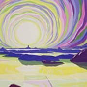 Whirling Sunrise - La Rocque Art Print by Derek Crow