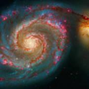 Whirlpool Galaxy M51 Art Print