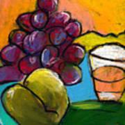 Whiskey  Pear  Grapes Art Print