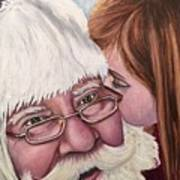 Whispered Wishes Santa  Art Print