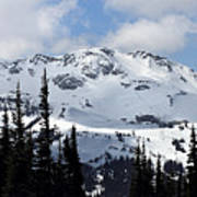 Whistler Mountain Peak View From Blackcomb Print by Pierre Leclerc Photography