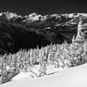 Whistler Mountain Winter Scenery Art Print