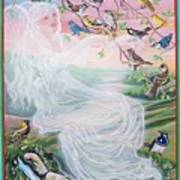 Whistling Angel-break Of Dawn   Art Print