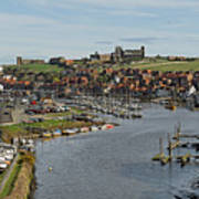 Whitby Marina And The River Esk Art Print