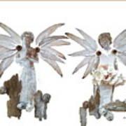 White Angels Art Print