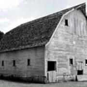 White Barn Art Print
