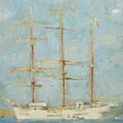 White Barque Art Print
