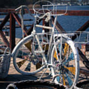 White Bike Art Print