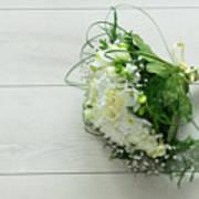 White Wedding Bouquet  Art Print