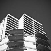 White Building To The Sky In Oahu Hawaii Art Print