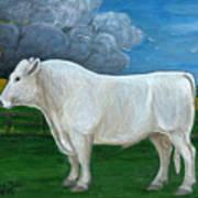 White Bull Art Print