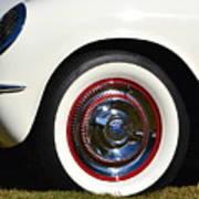 White Corvette Front Fender Art Print
