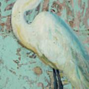 White Crane Art Print