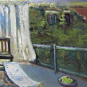 White Curtain View Art Print