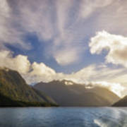 White Dragon Cloud In The Sky At Lake Manapouri Art Print