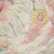 White Feathers Secret Garden Angel 4 Art Print
