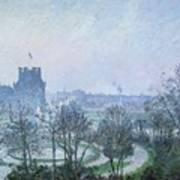 White Frost Jardin Des Tuileries Art Print
