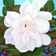 White Gardenia With Virginia Creepers Art Print