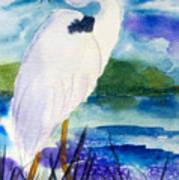 White Heron Art Print