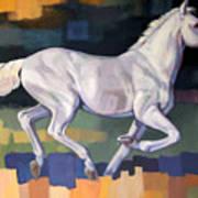 White Horse2 Art Print